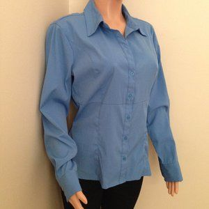 Light Stretch Button Down Ladies Shirt-Large
